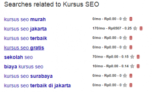 Kursus SEO Online -Search Related Google